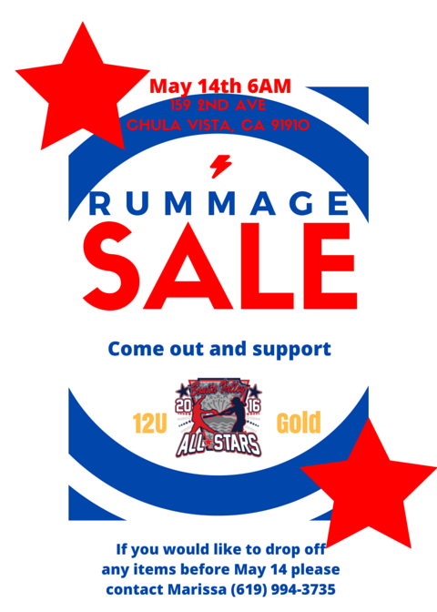 2016 12 Gold Rummage Sale