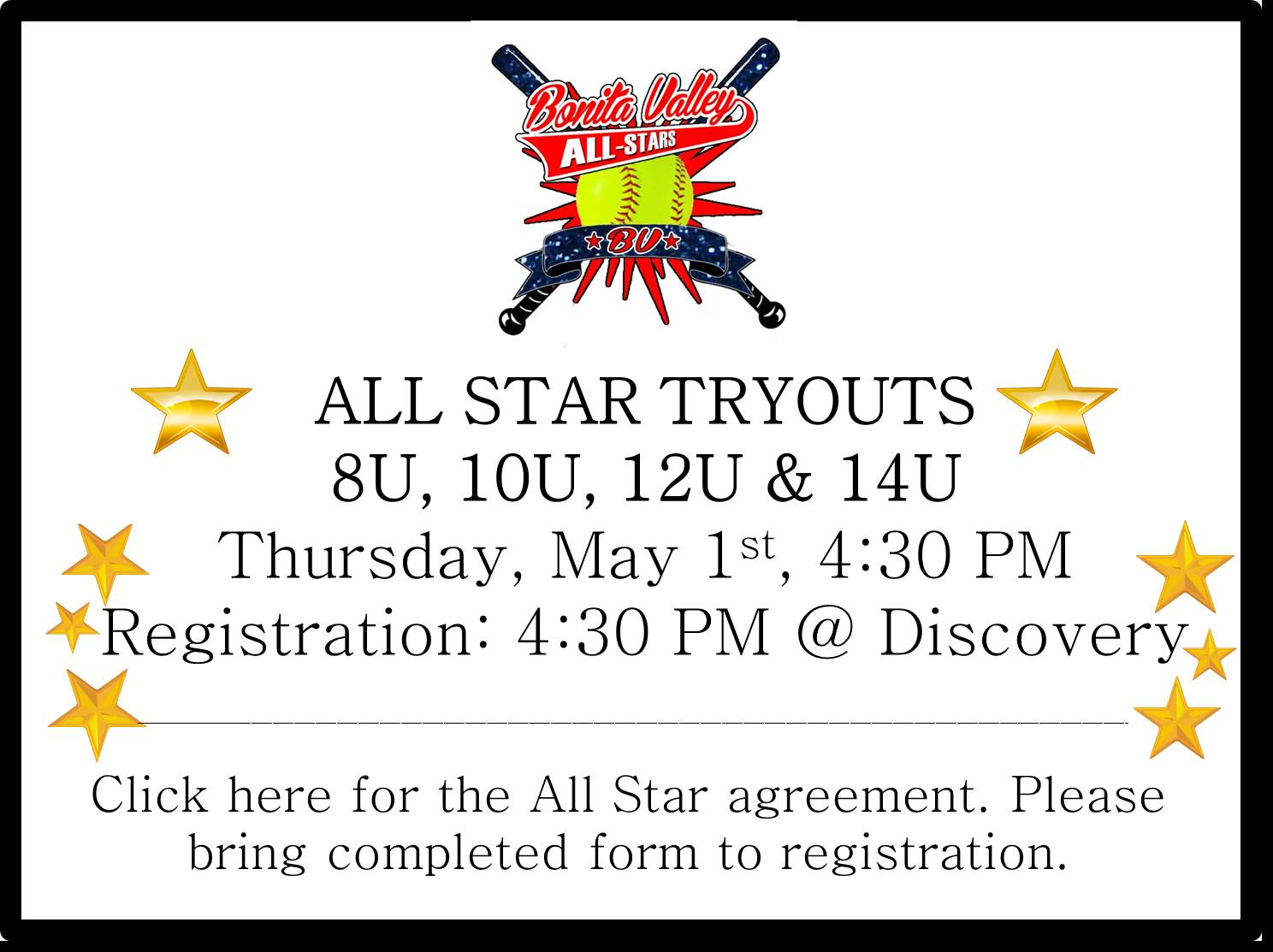All Star Tryouts