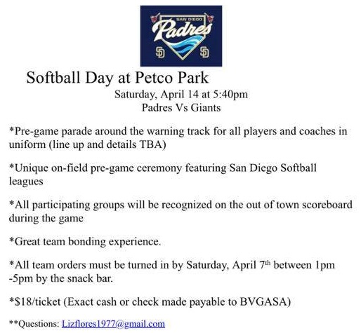 2018 Softball Day Petco Park