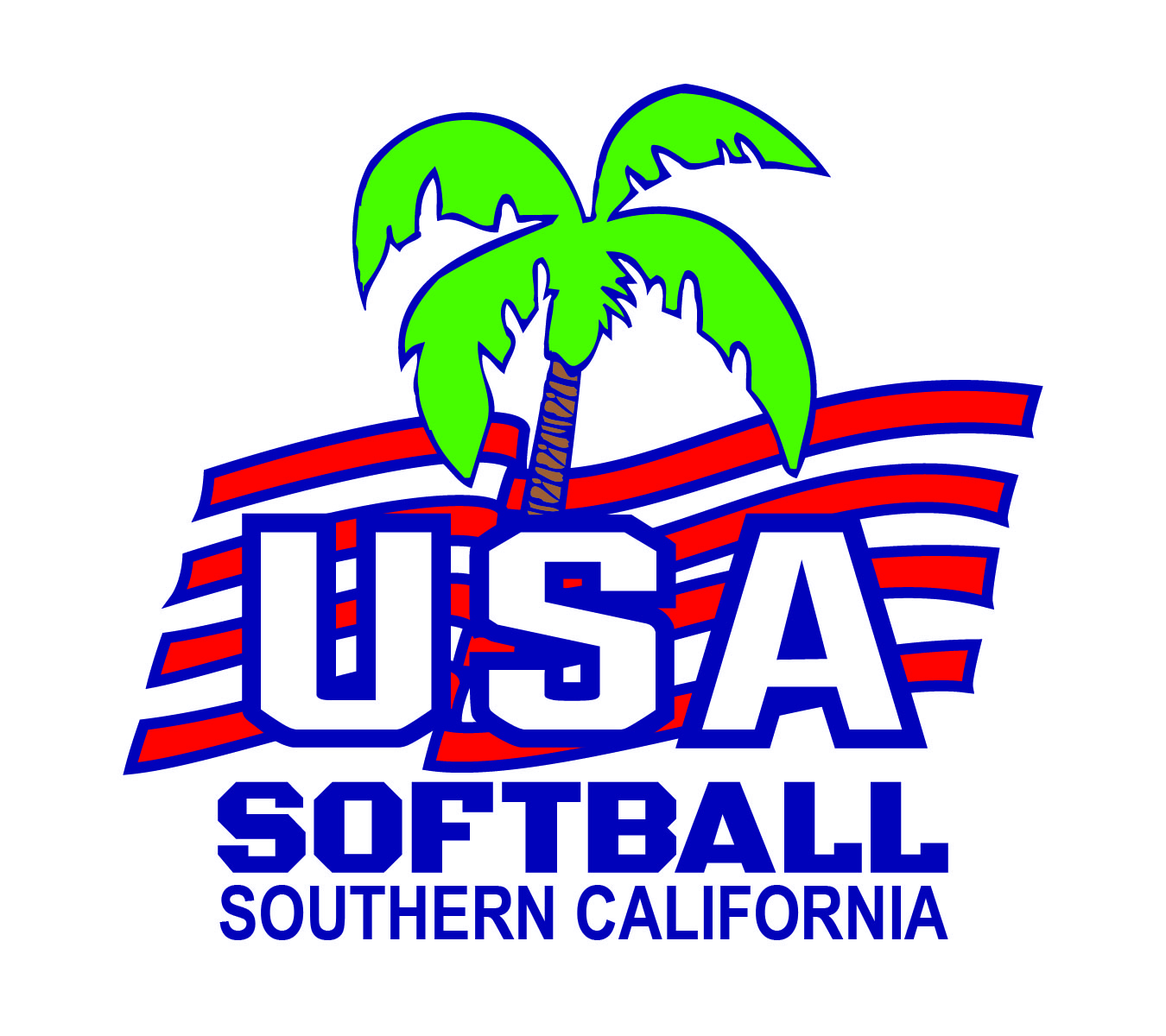 USA SoCal Softball Logo